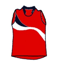 Sleeveless model volleyball game shirt mod.1113